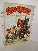 Red Ryder 1952 Fred Harman Western Cowboy Indian Comic Coloring Book Unused 32p