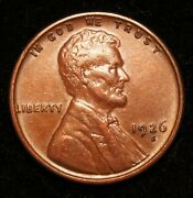 1926-s Lincoln Wheat Cent, Looks Unc