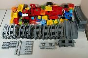 Large Lot Of Lego Duplo Train Tracks Trains And Misc. Pieces