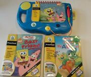 Leap Frog My First Leap Pad System W/ Interactive Books And Cartridges + Batteries