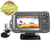 Lowrance Hook2 4x Fish Finder With Bullet Skimmer Transducer -black Freeshipping