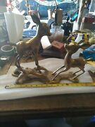 Rare Vintage Old Brass Baby Bambi Figurine Statue-3d-large-free Shipping