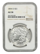 1894-o 1 Ngc Au58 - Better Date From New Orleans - Morgan Silver Dollar