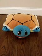Rare Sample Pokmon Squirtle Inspired Pillow Pets Plush Turtle Chenille Read