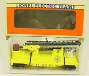 Lionel 6-16660 Yellow Operating Fire Ladder Car Ln/box