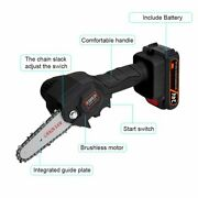 Mini Wooden Chainsaw Handheld Cordless Electric Protable Chainsaw