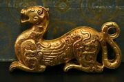 Old China Gold Plated Copper Handmade Carving General Soldier Symbol