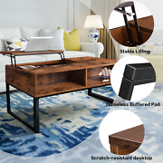 W/hidden Storage Compartment And Shelf Coffee Table Lift-up Top Coffee Table Usa