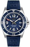 Brand New Breitling Superocean 44 Automatic Blue Dial Menand039s Watch A17367d81c1s1