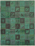 Modern Hand-knotted Carpet 9and0392 X 12and0390 Teal Wool Area Rug