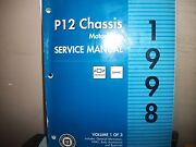 Gmc1998 P12 Chasis Motor Home Service Manual  Vol.1 Of 3 Used.
