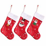 Christmas Santa Stockings Home Decoration Candy Bags Xmas Gifts Holiday Ornament