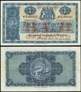 1948 Scotland One Pound Sterling Banknote The British Linen Bank P 157c Xf+