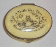 1700s Battersea England Enameled Moto Patch Box Trifle Like This Secure Me Kiss