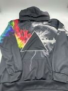 Unisex Xxl Pink Floyd Polyester Hoodie Pull Over Full Art Black With Multicolor