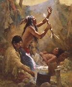 Howard Terpning Medicine Man Of The Cheyenne Giclee On Canvas