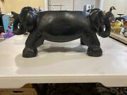 Solid Wood Elephant Plant Stand