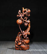 7 China Collection Boxwood Seiko Carving Clear Lines Frog Melon Field Ornaments
