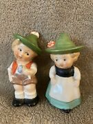 Vintage Hummel Boy And Girl Salt And Pepper Shakers W. Germany