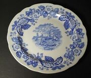 Spode Old Salem Plate Made In England New Old Stock Sailboats City Bldgs+ S 3441
