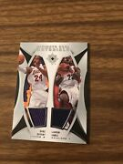 2007-08 Ud Ultimate Collection Lebron James Kobe Bryant Dual Jersey /99 All Star