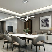 2 Rings Modern Chandeliers Ceiling Pendant Led Light With Remote Control 36w Usa