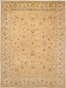 Vintage Hand-knotted Carpet 9and0391 X 12and0391 Traditional Oriental Wool Area Rug