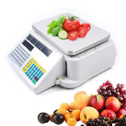 Commercial Food Scales 66lb 30kg Digital Weight Scale Price Computing W/ Printer