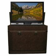 Touchstone Elevate 72007 Vintage Trunk Tv Lift Cabinet For 46 Flat Screen Tvs
