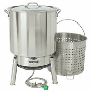 Bayou Classic Kds-160 60 Quart Stainless Boil Steamer Cooker And Basket Kit