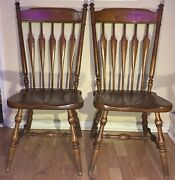 2 Vintage 1970's Kling Colonial 18-1277 Maple Dining Room Chair Set