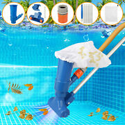 Swimming Pool Spa Pond Fountain Vacuum Brush Cleaner Cleaning Tools Suction Kits