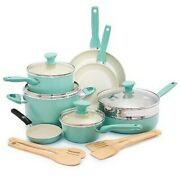 Greenpan Rio 16pc Cookware Set, Includes Sauce And Fry Pans