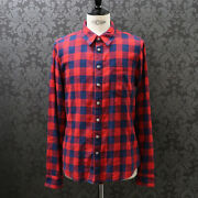 Chrome Hearts Warranty Star Patch Loose Ends Check Shirt Cross Size M