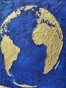 World Map Painting 4040 Inch Oil On Canvas Painting For Wall Decoration
