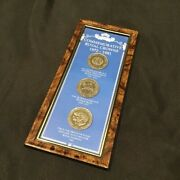 Rare British Commemorative Royal Crowns 1972-1981 Coin Collection Framed