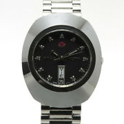 Rado Menand039s Watches Diamond Star Day-date 11pd Self-winding Ss Black Dial X-09