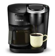 Single Serve And Carafe Coffee Maker Ground Coffee Brewer Multiple Cup Sizes New