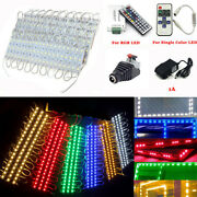 20pcs 5050 3 Led Rgb Injection Module Light Store Window Sign Lamp+remote+power