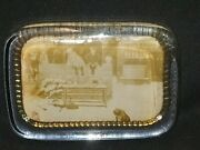 Vintage Dewarand039s Whisky Advertising Glass Paperweight The London Sand Blast Co