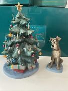 Wdcc Lady And The Tramp - Tramp And Tree At Home For Christmas + Box No Coa