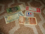 Foreign Currency Money Lot France Franc Canada Dollar Bolivia Peso Germany