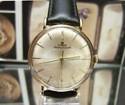 Antique Vintage 1963 Swiss Jaeger Lecoultre Solid Gold Watch Cal K800/c Working