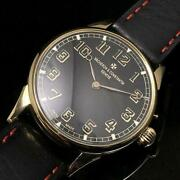 Vacheron And Constantin Geneve 42mm Gold Index Manual Antique Menand039s Watch