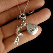 Love Dad Heart 3d Bbq Grill Necklace Foodie Jewelry Barbecue Fatherand039s Day Gift