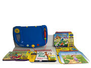 Lot Leap Frog My First Leap Pad Beginner Learning Books 4 Cartridges Backpack