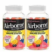 Airborne Vitamin C 750mg Per Serving - Assorted Fruit Gummies 2x63 Count In A...