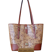 Dooney And Bourke Disney Cruise Line Brown Leather Sketch Tote Bag