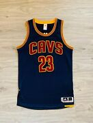Lebron James Authentic Cavaliers Jersey Rev30 Navy All Meshed Size L+0 Rare One