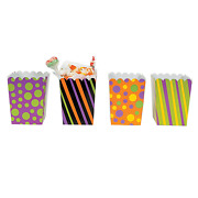 Mini Sweet Halloween Popcorn Boxes - Party Supplies - 72 Pieces